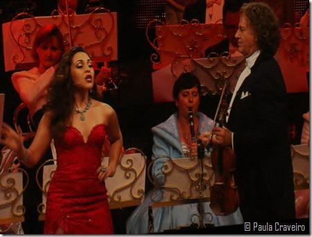 Brazilian singer Carmen Monarcha and André Rieu