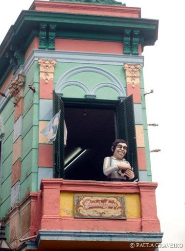 """Na chegada ao Caminito, encontramos nosso """"querido"""" Dieguito Maradona"""