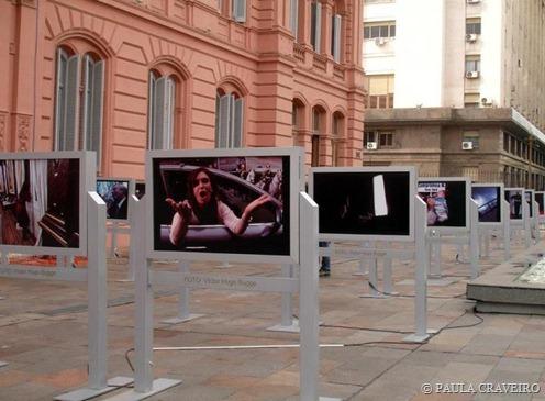 Exposição fotográfica gratuita na entrada da Casa Rosada