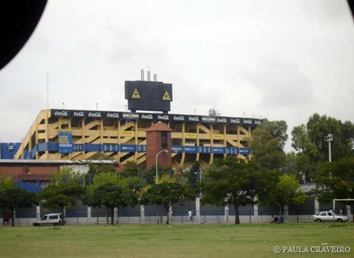 Estádio La Bombonera, em La Boca